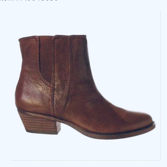 Nine West Sloane Brown Womens Ankle Boots Size 10